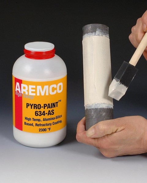 Aremco New Pyro Paint 634 As High Temp Refractory